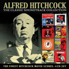 Alfred Hitchcock: The Classic Soundtrack Collection [4xCD] (album cover artwork)