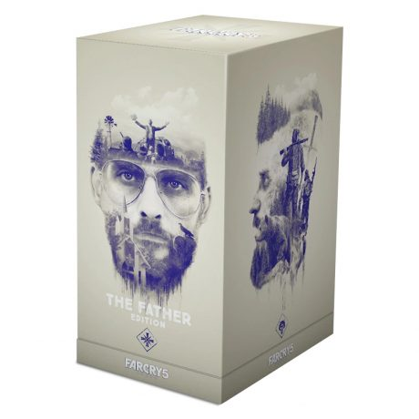 Joseph Seed figure (with stained-glass window backdrop) from Far Cry 5 [collector box]