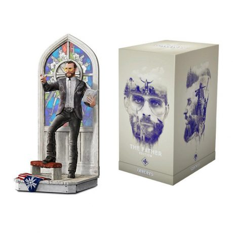 Joseph Seed figure (with stained-glass window backdrop) from Far Cry 5 (including collector box)