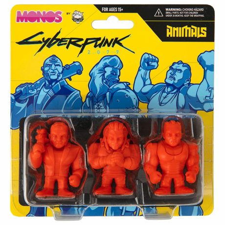 JINX 10630 Cyberpunk 2077 Monos Animals Figures Set (Series 1)