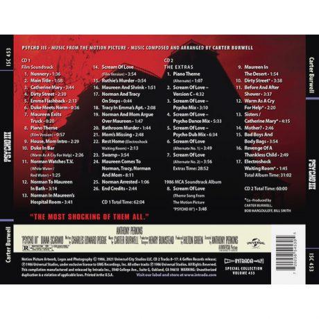 Psycho III Soundtrack Score (2xCD)