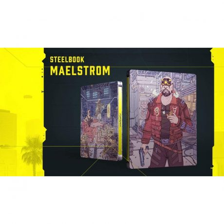 Maelstrong SteelBook Case (Cyberpunk 2077)