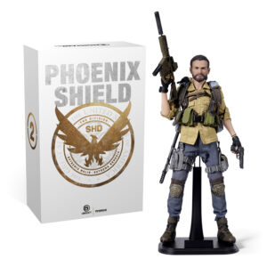 Tom Clancy's The Division 2: Brian Johnson Articulated Figure (and packaging) from the exclusive Phoenix Shield Edition