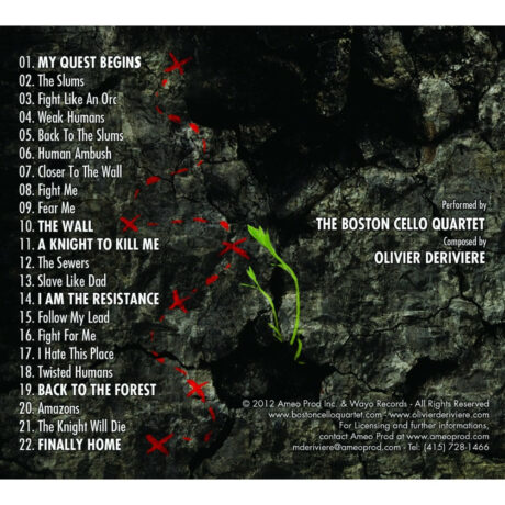 Of Orcs and Men Original Game Soundtrack (CD) [back cover and track listing]