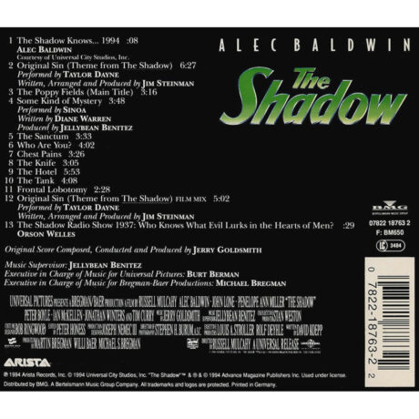 The Shadow Original Motion Picture Soundtrack (CD)
