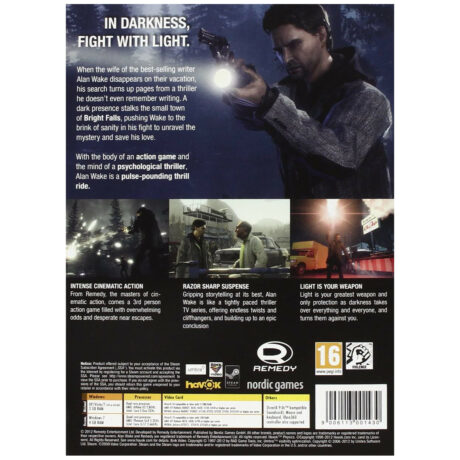 Alan Wake: Special Edition (PC DVD-ROM) [back cover]